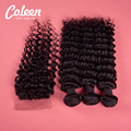 7A Malaysian Deep Wave Lace Cosure 4pcs Malaysian Curly Hair With Closure Coleen Hair Product Malaysian Virgin Hair with Closure