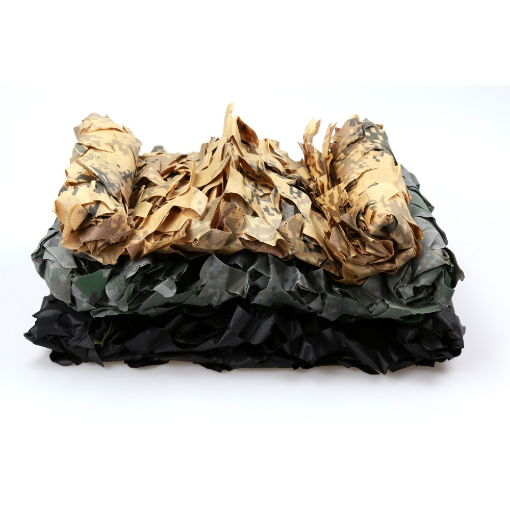 6 M * 10 M chasse aveugle Camouflage filet 150D Polyester Oxford militaire Camouflage Net ombre soleil auvent tente pour chasse tir
