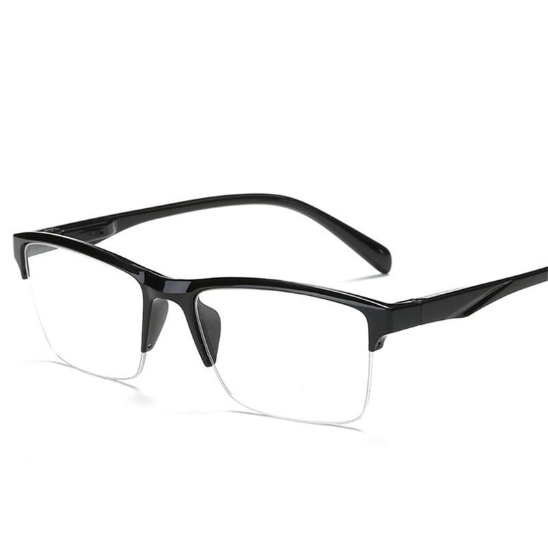 iboode Half Frame Reading Glasses Presbyopic Eyewear Male Female Far sight Glasses Ultra Light Black with