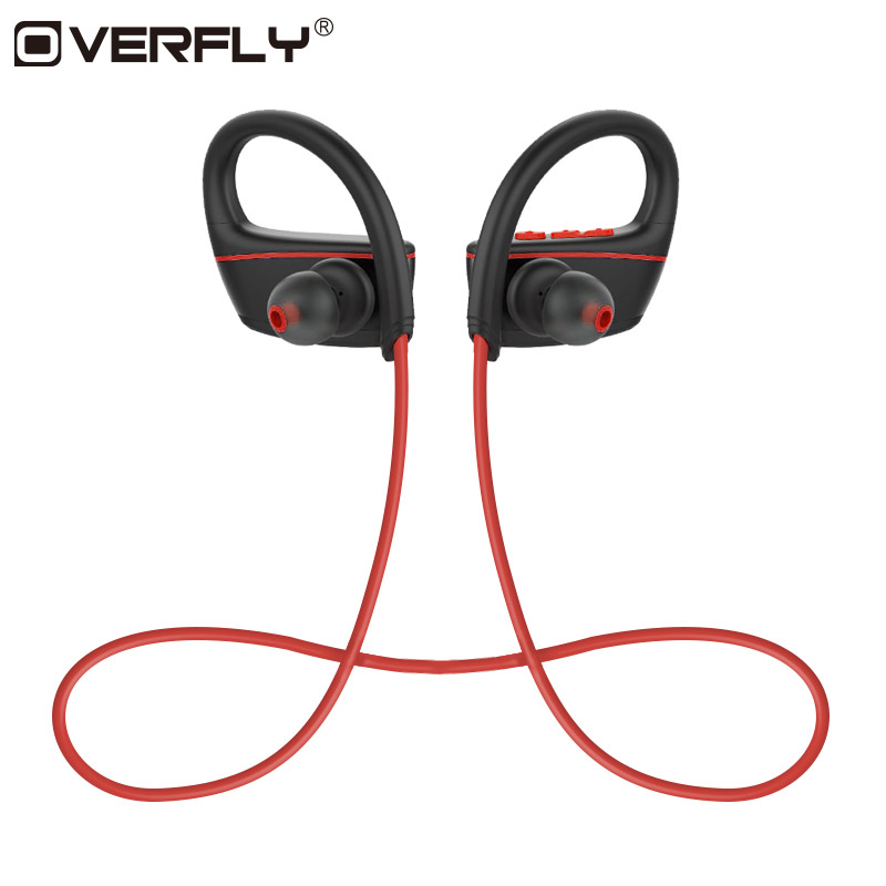 Overfly IPX7 Headphones Swimming Sport Bluetooth Headset Waterproof Wireless Bluetooth Earphone With Mic for xiaomi iPhone