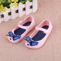 Kids Shoes Girls New Baby Rubber Mini Cute Bow Girls Sandals Children Shoes Bow Summer Sandals Rain Boot zapatos