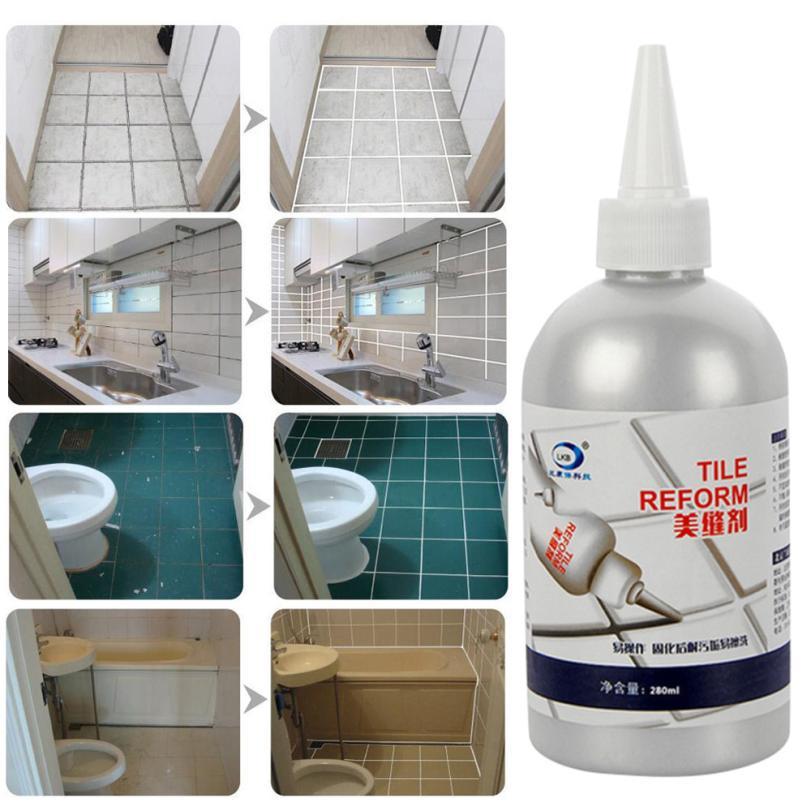 Tile Gap Refill Agent Tile Reform Coating Mold Cleaner Tile Sealer Repair Glue 7.27 spta 14pcs tile carbide
