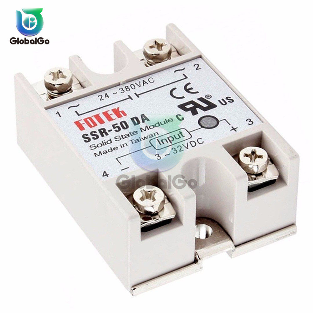 10A 25A 40A 50A Solid State Relay SSR-10DA SSR-25DA SSR-40DA DC Single Phase Relay Control Switch Module For Home Diy Car Toy