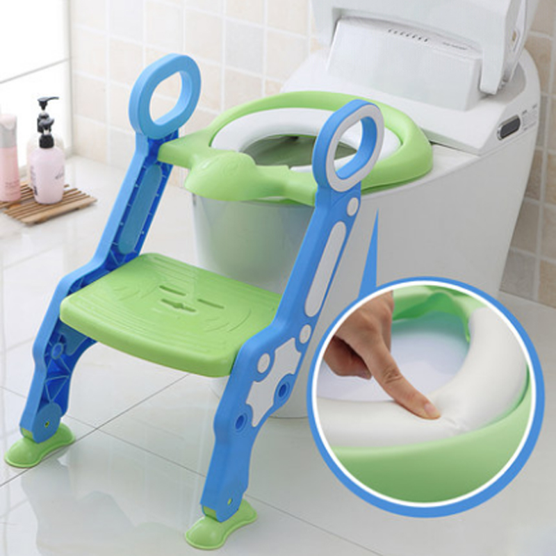 Baby Toilet Seat Baby Folding Adjustable Ladder Potty Training Chair Step Stool Kid Safety Toilet Trainer Seat Pot For Children