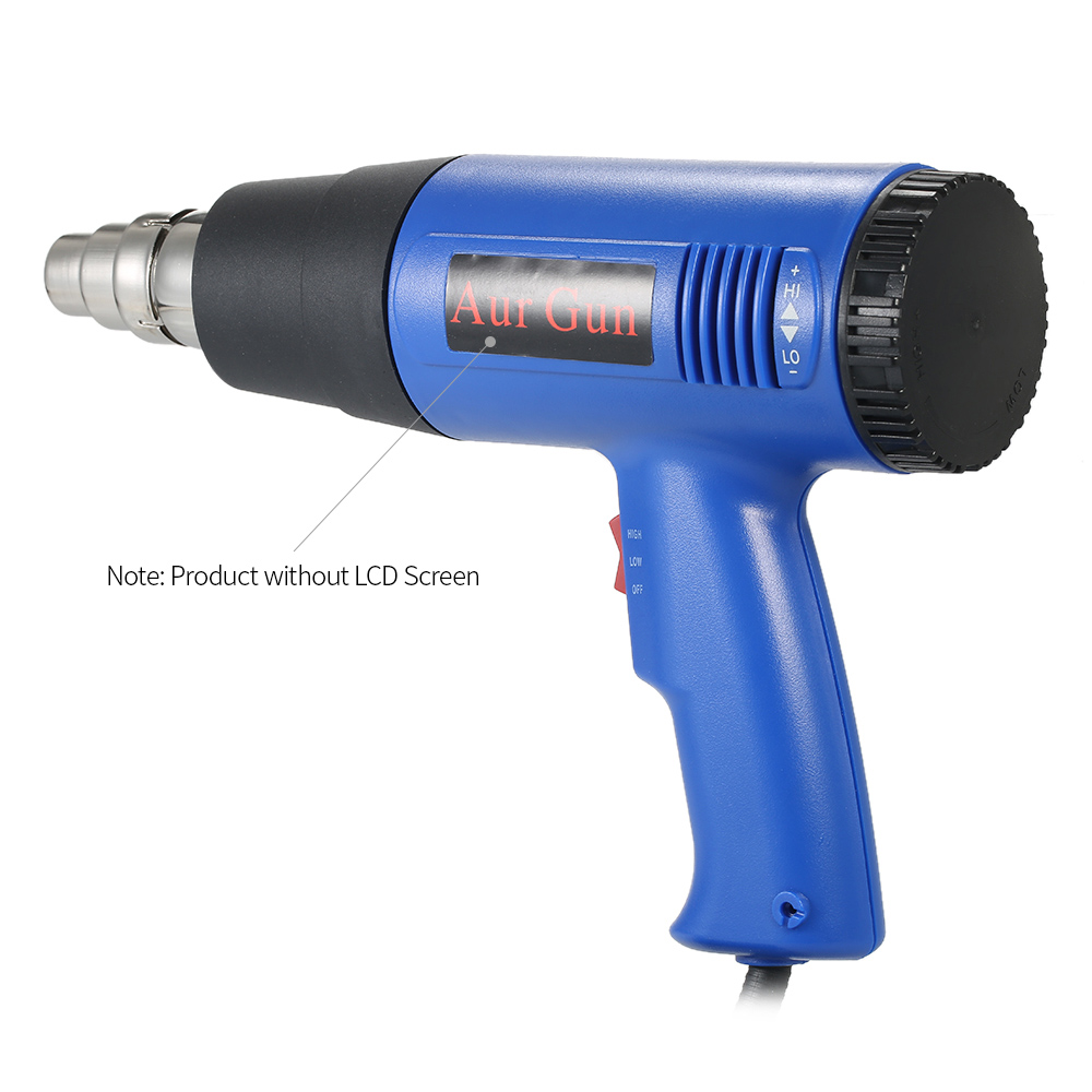 Digital Electric Hot Air Gun Temperature-controlled Heat IC SMD Soldering Welding Tools Navy Blue Gun 1800W AC110V(US)