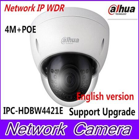 Brand IP Camera 4MP HD WDR Network Vandal-proof IR Mini Dome Camera IPC-HDBW4421E Support Multiple Network Monitoring цены