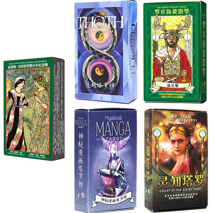 10 style tarot cards mysterious divination personal playing cards game for women English Chinese version
