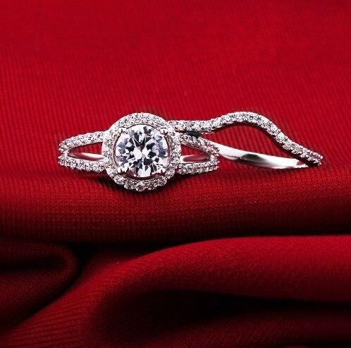 Великолепные Ювелирные изделия 2CT подлинное Moissanite тест положительное 750 Белое золото обручальное кольцо для женщин свадебное белое золото Moissanite