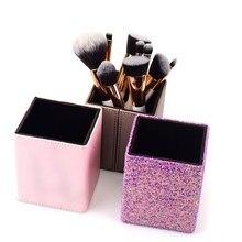 1Pcs Makeup Brushes Set Holder Box Storage Barrel Square Bucket Brush Magnetic Cylinder Organizer Without Kit