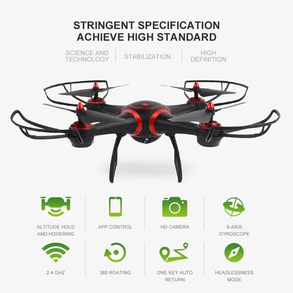 Drone avec 720 P HD Camare WiFi quadrirotor avion télécommandé LED Vision nocturne Drone RC quadrirotor hélicoptère sans tête