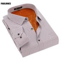 PaulJones 5XL 6XL 7XL 8XL Plus size Formelle kleidung Thermische Shirts Hohe Qualtiy Große größe Winter Männer Kleidung importiert-kleidung NDxx