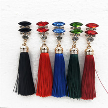 BK  many Colors FASHION Tassel ALLOY GEOMETRIC FLOWER LONG WOMEN EARRINGS tassel earrings