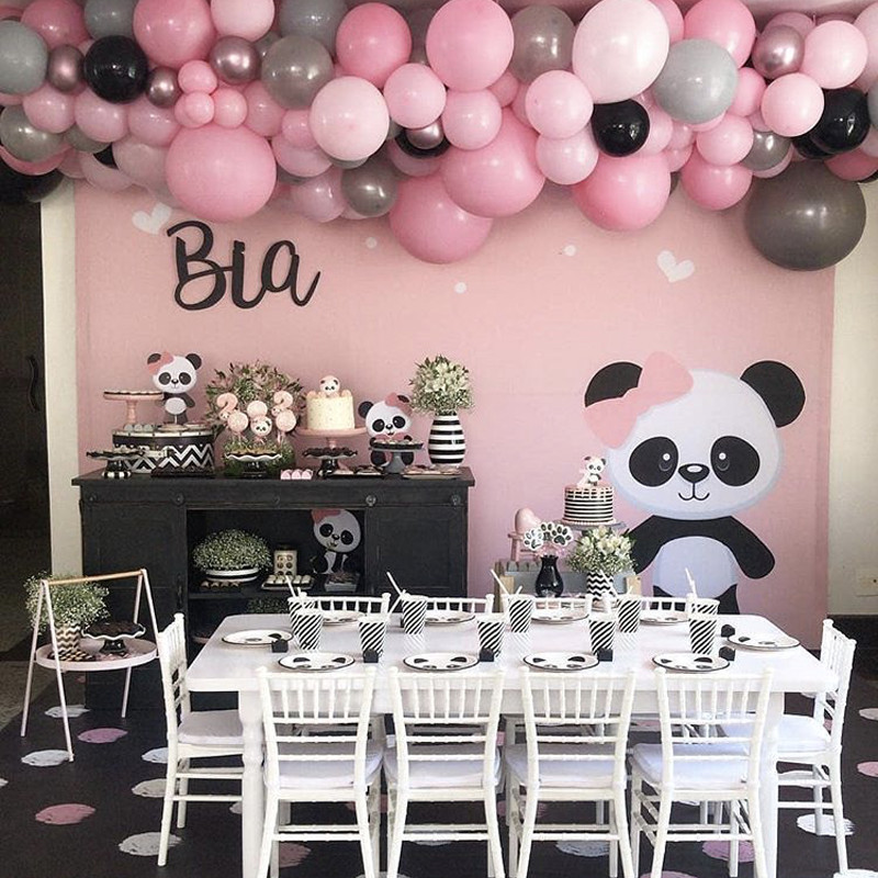 Omilut Panda Birthday Party Diy Decoration Panda Disposable