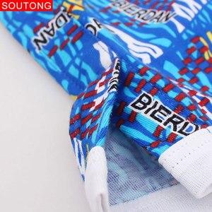 Image 5 - Soutong Calzoncillos Bóxer de algodón para hombre, ropa interior Sexy, holgados, cómodos, estampado de moda, 3 unidades/lote