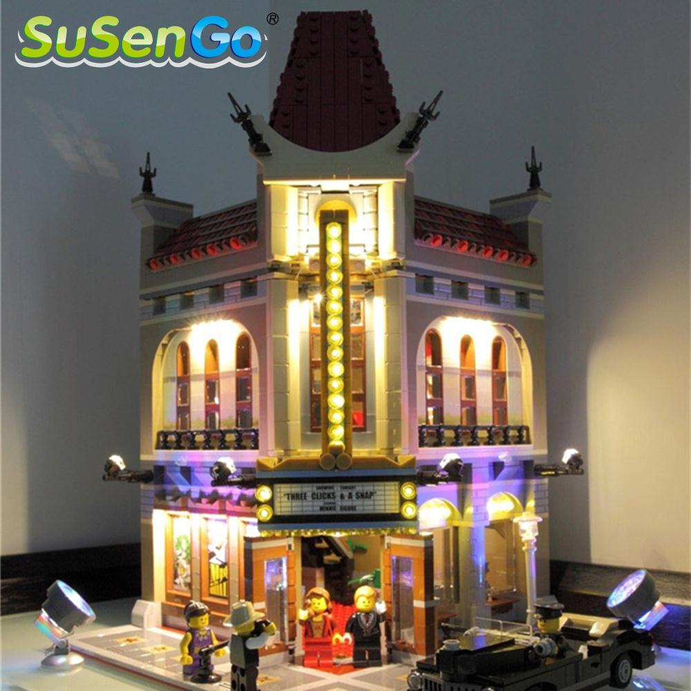 SuSenGo LED Light Kit For Palace Cinema Lepin 15006 Compatible With Famous Brand 10232 Building Blocks Toys Creator Set lightaling led light set compatible with brand camping van 10220 building model creator decorate kit blocks toys