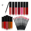 Makeup Set Matte Lip Gloss Professional Make Up Set Cosmetics Tool Cosmetic Kit For Gift Lip Gloss +  Lip Pencil +  Lip Brush