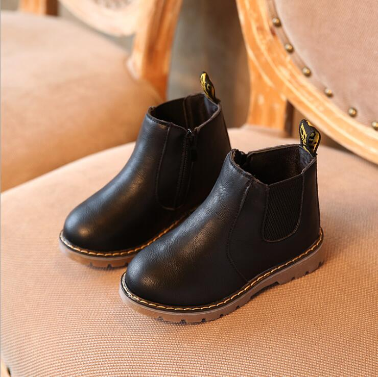 Spring Autumn Boys Girls Boots Kids Shoes Children Boys Girls Martin Boots Handmade Leather Boots Baby Boys Girls Shoes