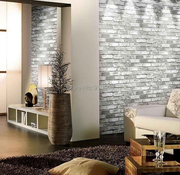 Nowoczesne vintage cegły kamienia pokoju tapety mural 3d winylu wodoodporna tłoczone tapety rolka papel de parede home decor 10 m 7