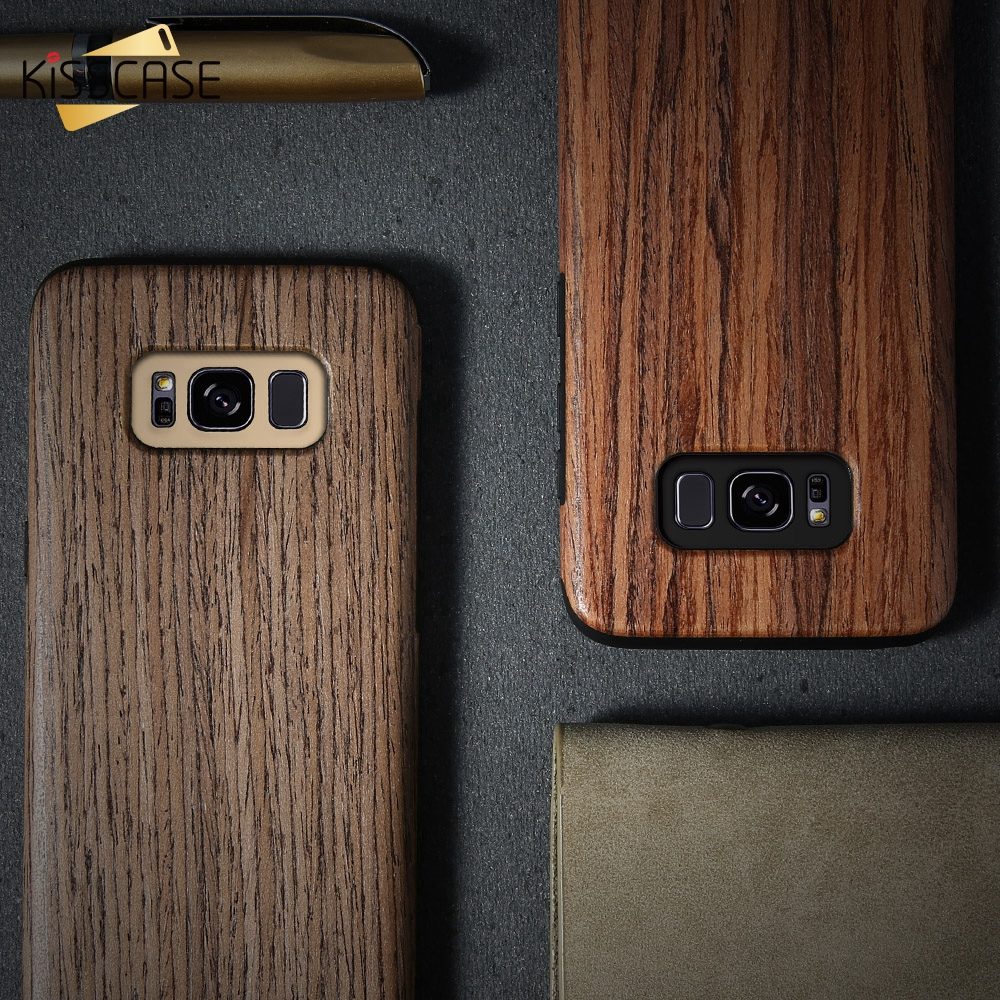 KISSCASE Natural Wooden Case For Samsung Galaxy S8 Plus