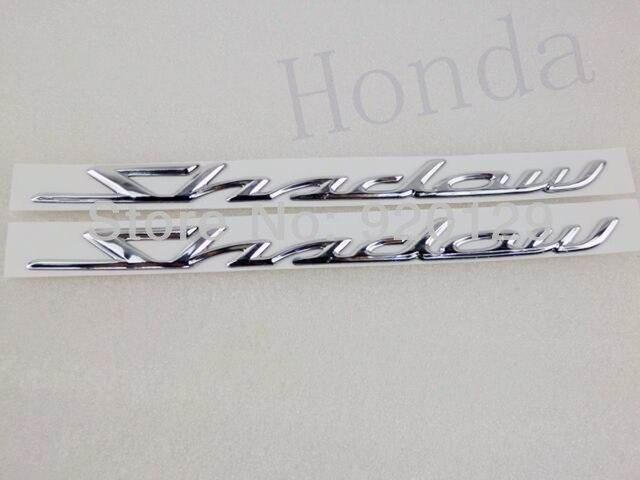 Chrome 3D Gas Tank Decal Sticker Decals Emblem Badge For Honda Shadow Spirit Sabre Aero ACE VT750
