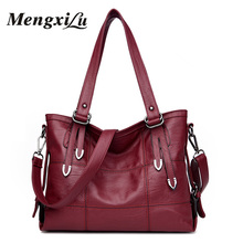 Fashion Stitching Women Shoulder Bag Lady Top-handle Bags Casual Tote Bag For Girls Large Capacity Female Leather Handbags