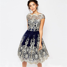 Flying ROC women lace summer casual dress O-neck sexy autumn new arrival dresses