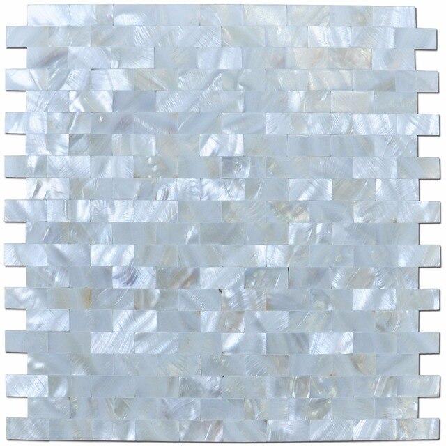 6 Pack Weiße Muschel Mosaik Fliesen Für Küche Wandanschluss/Dusche Wand, 12