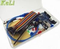 1set New Starter Kit UNO R3 Mini Breadboard LED Jumper Wire Button Compatile Plastic Box Packing