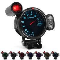 Dynoracing-Medidor de velocidad para motocicleta paso a paso, 80MM, 7 colores, 0 a 11000 RPM, con luz de cambio, TT101504