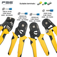 VSC8 16 4A 6 4A 0.25 10mm 23 10AWG Adjustable Precise Crimp Pliers Tube Bootlace Terminal Crimping Hand Tool VSC9 6 4A