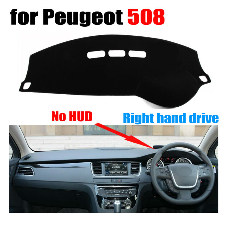 Car Dashboard Covers For Peugeot 508 Low Configuration All The Years Right Hand Drive Dashmat Pad Dash Cover Auto Accessories