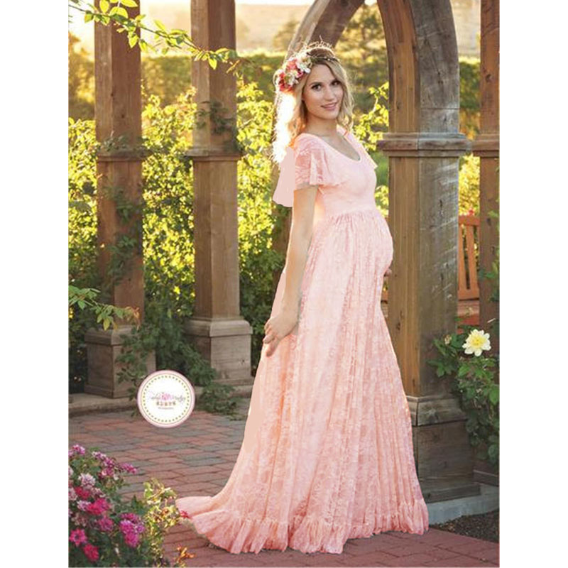 Pregnancy Dress Photography Maxi Gown Maternity Dresses 1
