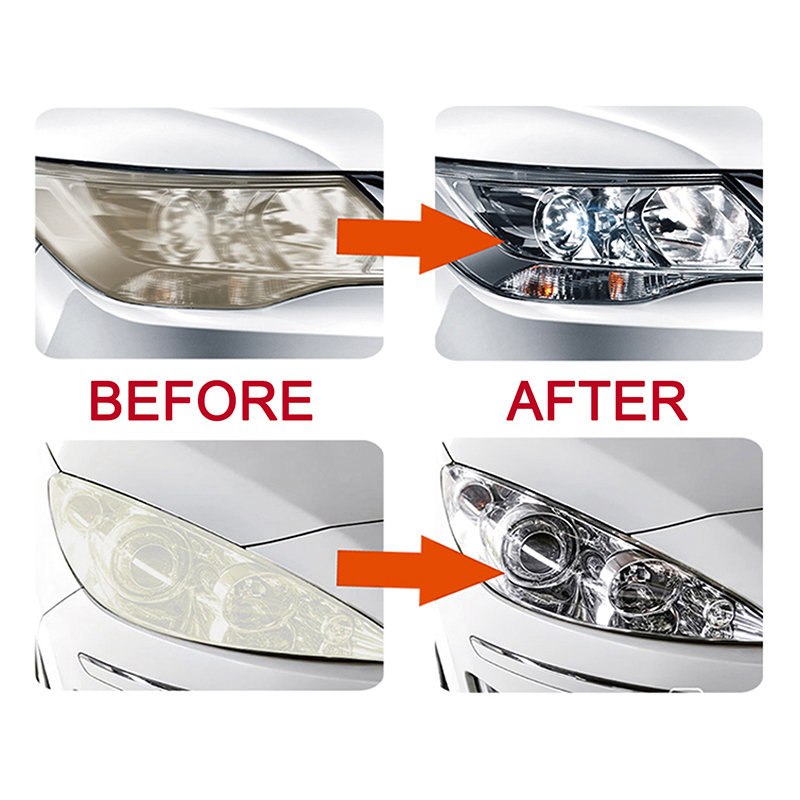 Купить с кэшбэком LUDUO Headlamp Refurbish Repair Headlights Restoration Kits for Polish Cleaner Renovate Paste Wash Brightener Repair with Cloth