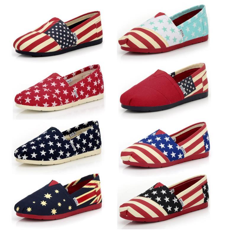 49da676c002 New 2014 Spring Women Canvas Espadrilles Shoes Fashion American Flag Print  Slip-on Women Flats Comfortable Ladies Canvas Loafers