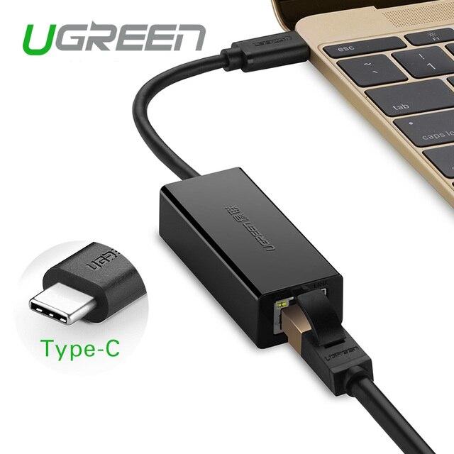 Ugreen USB 3.1 Type-C 10/100 Мбит Сетевой Адаптер Внешний USB для Ethernet Высокоскоростной Сетевой Карты для Macbook поддержка Windows 8/7