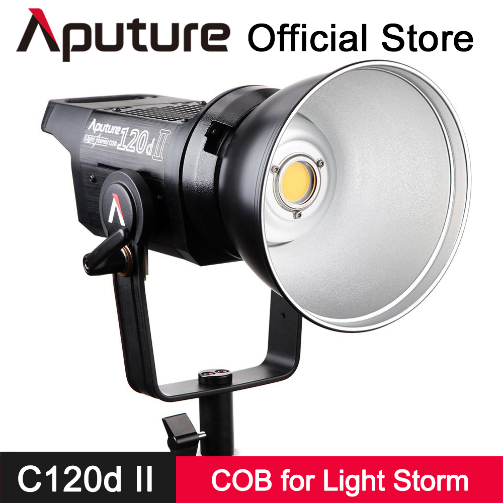 цена на Aputure LS C120D II COB Light DMX Control Professional Photo Film Light Studio Continuous Lighting 5 Lighting Effects V-mount
