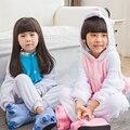 Pijamas de inverno Crianças Quente Unicornio Cosplay Animal Dos Desenhos Animados manga Comprida Macacão Flanela Crianças Sleepwear Meninos Meninas Pijamas
