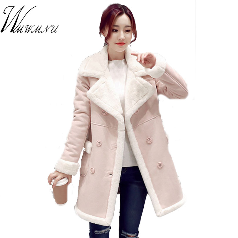 2017 Rushed Limited Wmwmnu Women Warm Winter Thicken Plush Coat Lamb Jacket Female Pocket Overcoat Outerwear Lady Solid Casual 2015 time limited rushed coat jacket fruit tea pure natural fresh dried lotus leaf to lose belly slimming plants oem processing