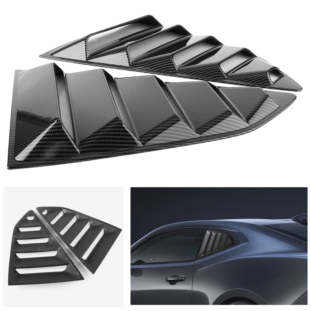2x Rear Side Window Louver Side Vent Cover Replacement For Chevy Camaro 2016 2017 2018 3 Colors Auto Car Accessories