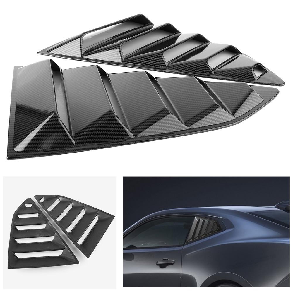 2x tylne boczna szyba żaluzji korzystając z łączy z boku osłona wentylacyjna do chevy camaro 2016 2017 2018 3 kolory akcesoria samochodowe