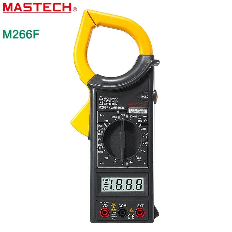 MASTECH M266F AC Current digital clamp meter Resistance Tester Detector with Diode  цены
