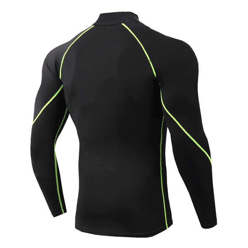 Olahraga Kemeja Pria Berjalan Kemeja K Berlaku Pria Kerah Berdiri Gym Kemeja Kering Fit Gym T Shirt Cocok Tshirt pria Olahraga