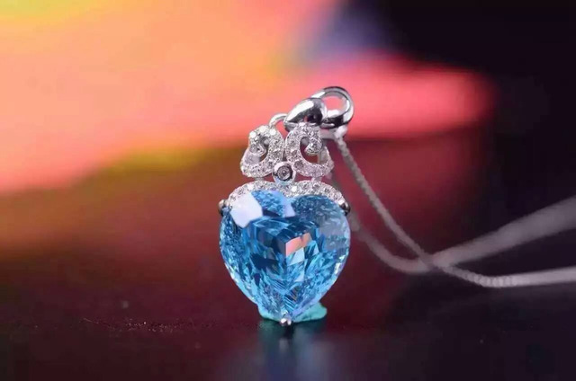 natural blue topaz  pendant 925 Sterling silver Natural gemstone Pendant Necklace trendy brilliant water drop women girl jewelry