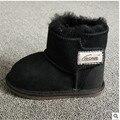 As novas botas de neve das crianças botas de Pele De Carneiro do bebê sapatos sapatos da criança botas de neve