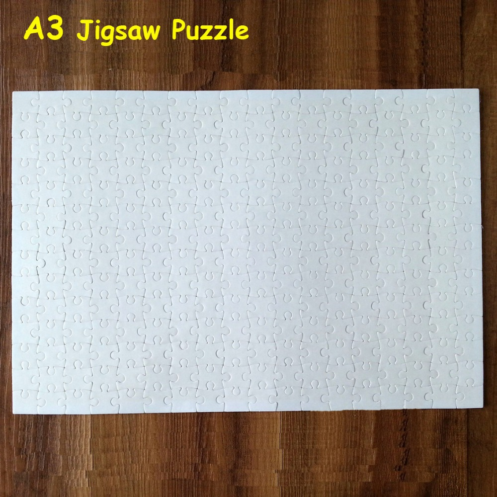 A3 Sublimation Blank Puzzle DIY Craft Jigsaw Puzzle Trtansfer FREE SHIPPING