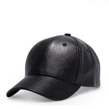 High Quality Faux Leather Baseball Cap Men Women Solid Color Black Hat stylish solid color faux leather bracelet for men