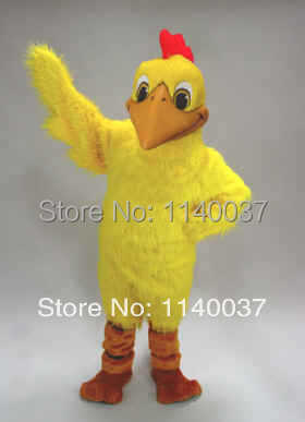 mascot Red Crest Yellow Doodle Doo Mascot Costume Adult Size Mascotte Outfit Suit Fancy Dress for Stage Performance Party