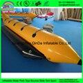 Guangzhou QinDa Barato 0.9mm PVC inflable barcos de plátano, tubo de pesca con mosca, bote de goma para la venta