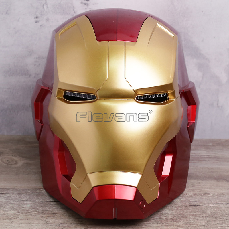Iron Man Motorcycle Helmet Cosplay Mask for Adult Touch Sensing Mask with LED Light Super Hero Series Doll 1:1 2 Colors 1000m motorcycle helmet intercom bt s2 waterproof for wired wireless helmet