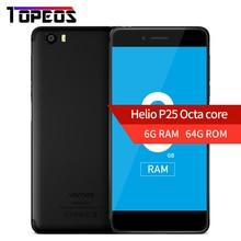 """Vernee Mars Pro Helio P25 octa base 6G RAM 64G ROM LTE Android 7.0 Mobile Téléphone 13.0MP 5.5 """"Téléphone portable D'empreintes Digitales Smartphone"""
